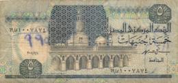 BILLET  EGYPTE  5 FIVE POUNDS - Egypte