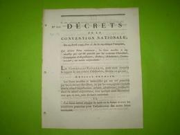 Convention Nationale 1793:Biens Nationaux: Biens Des Chevaliers,Compagnies D'Arquebusiers,Archers,Arbalétriers,Couleuvri - Décrets & Lois
