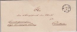Hannover Nachverwendet K2 Aurich Klein Ostfriesland Schwarz Bf N Emden 1869 - [1] Prefilatelia