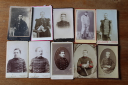 10 Cdv Militaires Vers 1900  Infanterie , Medecin , Artillerie - Guerra, Militares