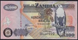 Zmb041 ZAMBIA 2008, 100 Kwacha Banknote, (CU Serial Numbers) Unc - Zambia