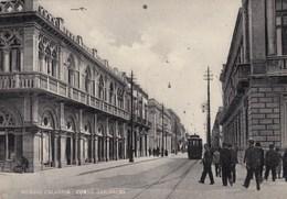 REGGIO CALABRIA-CORSO GARIBALDI-TRAM IN ARRIVO-CARTOLINA NON VIAGGIATA ANNO 1948-1950 - Reggio Calabria