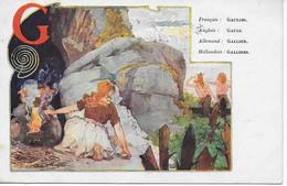 1 CPA 1907 G Comme... Gaulois Gauls Gallier Galliers - Alphabet Lettre G - Illustrateurs & Photographes