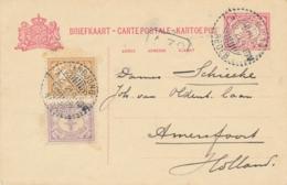 Nederlands Indië - 1921 - 5 Cent Briefkaart + 2,5 Cent Van LB TANDJONGREDEB Naar Amersfoort - Indes Néerlandaises