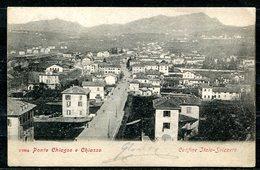 CARTOLINA CV2649 SVIZZERA SWITZERLAND Chiasso, Panorama Di Ponte Chiasso E Chiasso, 1904, Viaggiata Per L'Italia, - TI Tessin