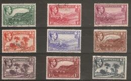 MONTSERRAT 1938 - 1948 SET TO 2s 6d SG 101/109 FINE USED Cat £7+ - Montserrat