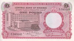 NIGERIA 1 POUND 1967 P-8 VF+/EF HIGH CRISP */* - Nigeria