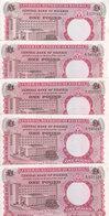 NIGERIA 1 POUND 1967 P-8  LOT X5 VF+/EF HIGH CRISP */* - Nigeria