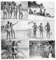 PHOTO HOMMES ET FEMMES  EN MAILLOT DE BAIN CULTURISME CULTURISTE   FORMAT 20 X 19 CM - Sports