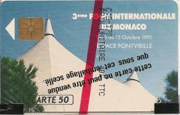 CARTE-PUBLIC-MONACO-50U-MF18-GEM A-09/91-FICOMIAS-V° N° B19128-NSB-TBE- - Monaco
