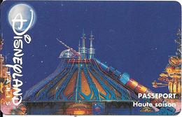PASS-DISNEYLANDPARIS -1996-SPACE MOUNTAIN-ADULTE-V° N° S 049610- Horizontal En HAUT-MKC-VALIDE 1 JOUR-TBE- - Toegangsticket Disney