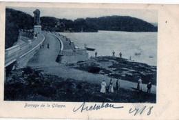 Barrage De La GIleppe 1919 Naar Lokeren (scheur Onderaan Midden Kaart -zie Scan) - Jalhay