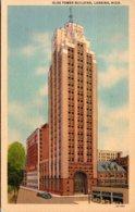 Michigan Lansing Olds Tower Building 1953 Curteich - Lansing