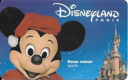 PASS--DISNEYLAND-MICKEY-ADULTE-BASSE SAISON-GEMPLUS-99/01/MIK-V° VALIDE 2 JOURS Saison Basse-TBE- +RARE - France