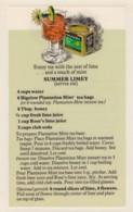 Bigelow Tea Drink Recipe 'Summer Limey' On C1970s(?) Vintage Marge Rosencrans Made Postcard - Recipes (cooking)