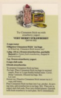 Bigelow Tea Drink Recipe 'Very Berry Strawberry' On C1970s(?) Vintage Marge Rosencrans Made Postcard - Recipes (cooking)