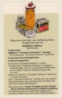 Bigelow Tea Drink Recipe 'Dapple Apple' On C1970s(?) Vintage Marge Rosencrans Made Postcard - Recipes (cooking)