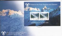 New Zealand 2009 FDC International Polar Year Sheet Of 2 - FDC