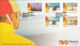 New Zealand 2010 FDC Centenary Of Surf Life Saving Set Of 5 - FDC