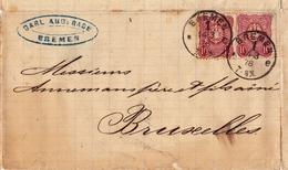 Lettre 1878 Bremen Deutschland Brême Allemagne Bruxelles Belgique - Bremen