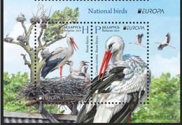 Belarus 2019 EUROPA. National Birds Stork 2 Stamps - 2019