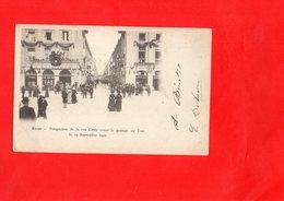 F0205 - REIMS - 51 - Perspective De La Rue Cérés Avant Le Passage Du Tsar Le 19 Septembre 1901 - Reims