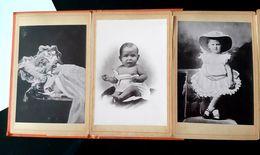 ALBUM WILHELMINA NEDERLANDEN 1880-1892 12 PHOTOS REINE PAYS BAS MAJESTEIT KONINGIN ANTIQUE CABINET PHOTO 1893 - Photos
