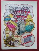 INDIA GT RADIAL TYRES. 0RIGINAL 1971 MAGAZINE ADVERT - Advertising