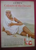 CUTEX NAIL VARNISH/LIPSTICK.  0RIGINAL 1964 MAGAZINE ADVERT - Advertising