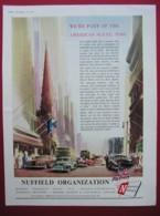 NUFFIELD ORGANISATION . 0RIGINAL 1951 MAGAZINE ADVERT - Advertising
