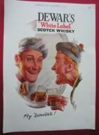 DEWARS 'WHITE LABEL' SCOTCH WHISKY.  . 0RIGINAL 1951 MAGAZINE ADVERT . - Sonstige