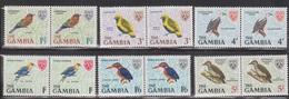 GAMBIA Scott # Between 217 - 225 MNH Pairs - Birds - Gambia (1965-...)