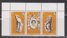 GAMBIA Scott # 380a-c MNH - QEII 25th Anniversary Of Coronation - Gambia (1965-...)