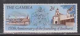 GAMBIA Scott # 229 MH - 150th Anniversary Of Bathurst - Gambia (1965-...)