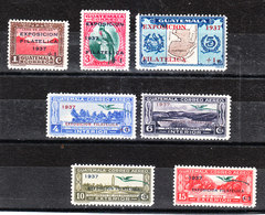 Guatemala  -  1937.  Expo Filatelica 1937. Series MNH Fresh Without Two Values - Philatelic Exhibitions
