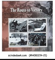 SIERRA LEONE - 2005 THE ROUTE TO VICTORY - MINIATURE SHEET MINT NH - Sierra Leone (1961-...)
