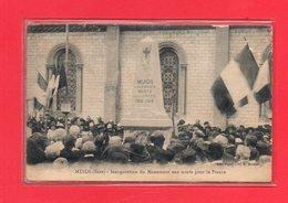 27-CPA MUIDS - INAUGURATION DU MONUMENT AUX MORTS - Muids