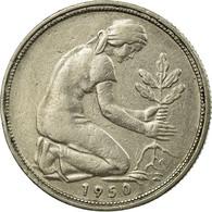 Monnaie, République Fédérale Allemande, 50 Pfennig, 1950, Hamburg, TTB - [ 6] 1949-1990 : GDR - German Dem. Rep.