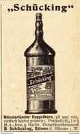 Original-Werbung/ Anzeige 1902 - SCHÜCKING MÜNSTERLÄNDER DOPPELKORN - DÜLMEN - Ca. 45 X 60 Mm - Publicités