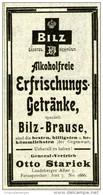 Original-Werbung/ Anzeige 1903 - BILZ BRAUSE / OTTO STARICK BERLIN - Ca. 45 X 100 Mm - Werbung