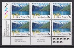 New Zealand 2010 Scenic $1.90 Queenstown Control Block MNH, 8 Kiwis - New Zealand