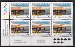 New Zealand 2010 Scenic $2.40 Lake Rotorua Control Block MNH, 8 Kiwis - New Zealand