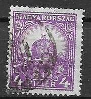 UNGHERIA  1928 SERIE ORDINARIA CORONA DI ST.ETIENNE YVERT. 382/B  USATO VF - Ungheria