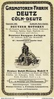 Original-Werbung/ Anzeige 1907 - GASMOTOREN-FABRIK DEUTZ - CÖLN-DEUTZ - Ca. 80 X 140 Mm - Advertising