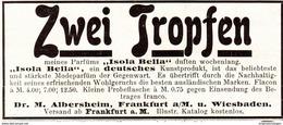 """Original-Werbung/ Anzeige 1907 - PARFÜM """"ISOLA BELLA"""" / ALBERSHEIM - FRANKFURT A.M. - Ca. 80 X 40 Mm - Werbung"""