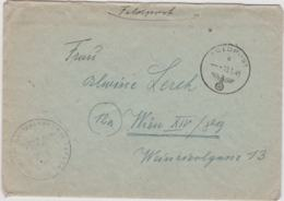 Late German Feldpost WW2: From Slovakia - Landesschutzen-Bataillon 867 (Stab) FP 31571A And Cachet On Front - Militaria
