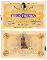 1914-1918 // C.D.C. // METZ // Décembre 1918 // 2 Francs // Sans Filigrane - Chambre De Commerce