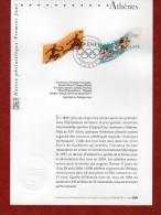 """"""" J.O. ATHENES """" Sur Notice Officielle 1er Jour De 2004 . N° YT 3686 3687. Parfait état. - Zomer 2004: Athene"""