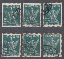 Yugoslavia Kingdom, Sokol Games, 1934 Mi#275, 6 Pieces Used - 1931-1941 Königreich Jugoslawien