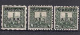 Yugoslavia, Kingdom SHS, Issues For Bosnia 1919 Mi#46 A,B,C - All Three Perforations, Mint Hinged - Ungebraucht